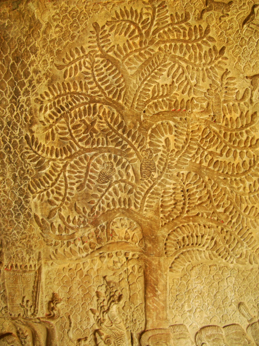 Angkor Wat Bas relief S Gallery W Wing Historic Procession 022