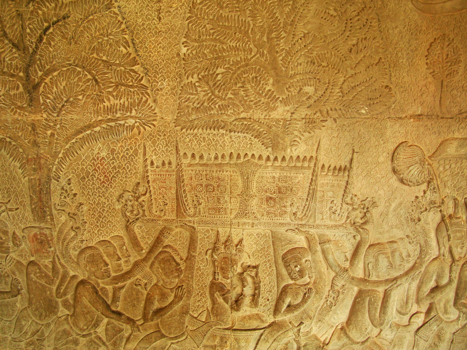 Angkor Wat Bas relief S Gallery W Wing Historic Procession 026
