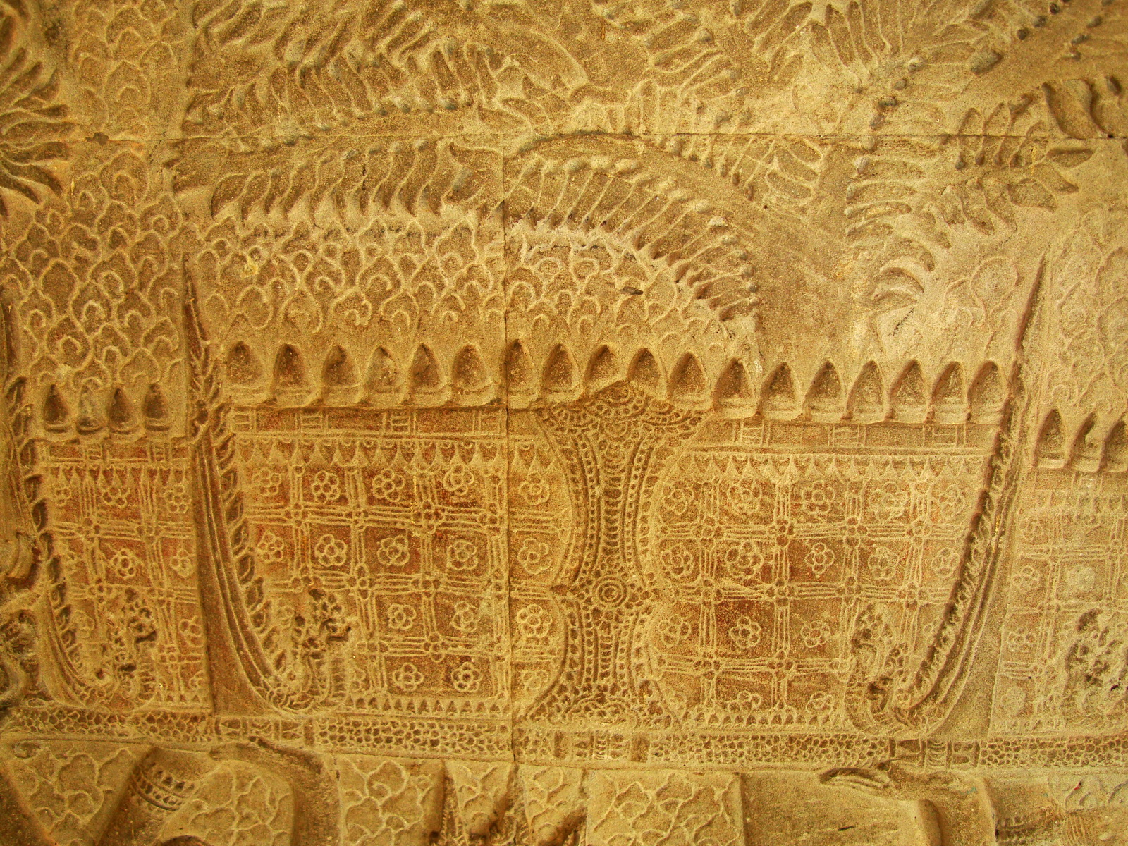 Angkor Wat Bas relief S Gallery W Wing Historic Procession 027