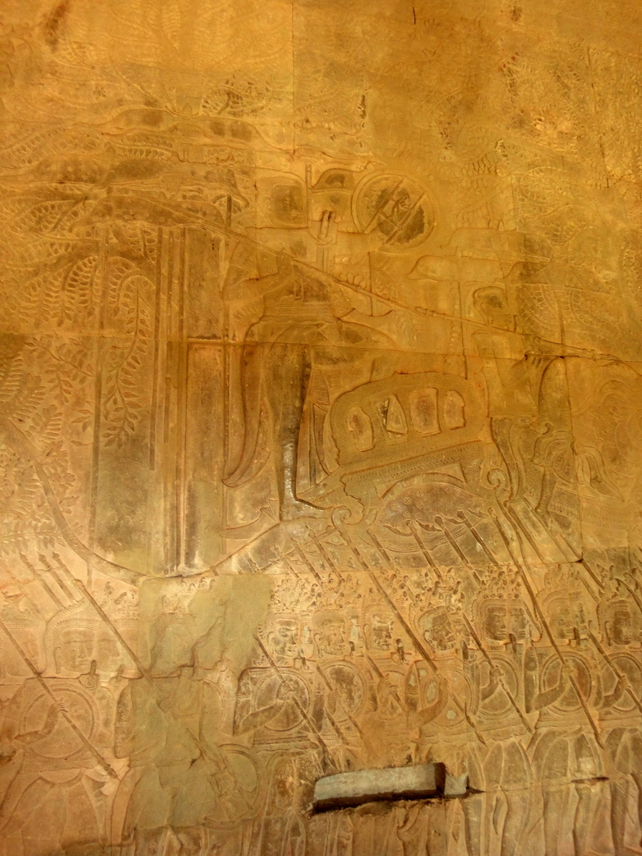 Angkor Wat Bas relief S Gallery W Wing Historic Procession 030