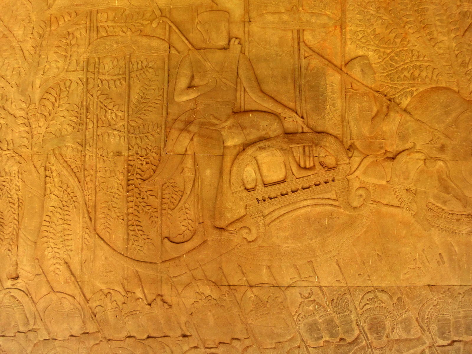Angkor Wat Bas relief S Gallery W Wing Historic Procession 032