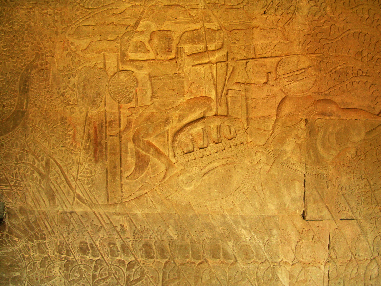 Angkor Wat Bas relief S Gallery W Wing Historic Procession 035