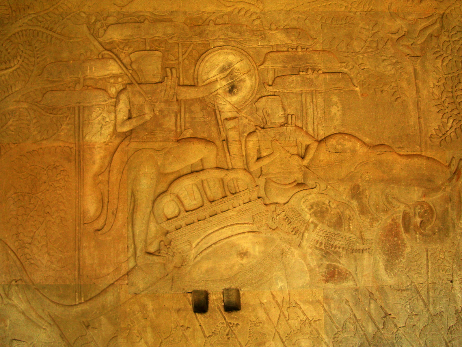 Angkor Wat Bas relief S Gallery W Wing Historic Procession 036