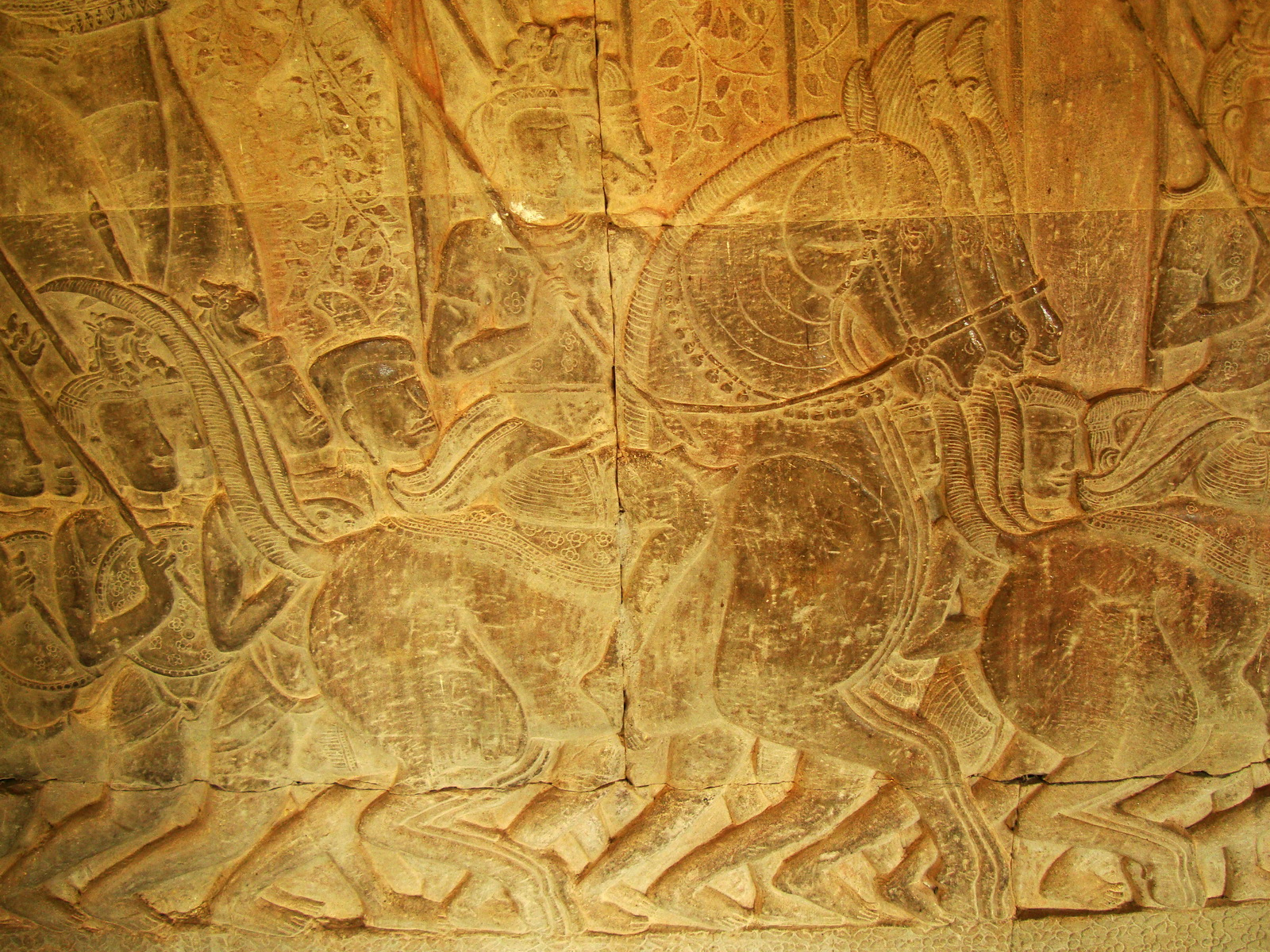 Angkor Wat Bas relief S Gallery W Wing Historic Procession 041