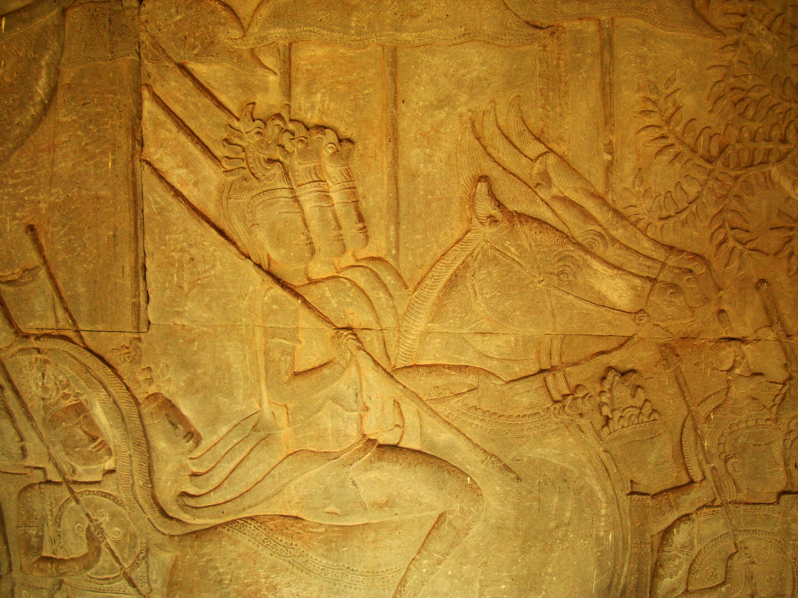 Angkor Wat Bas relief S Gallery W Wing Historic Procession 045
