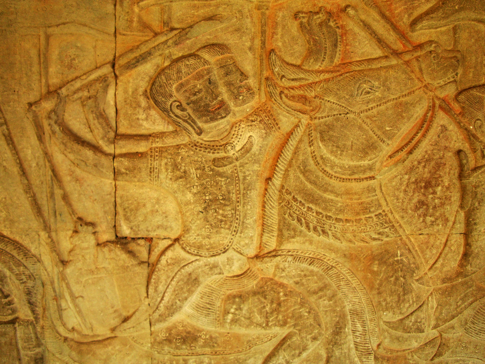 Angkor Wat Bas relief S Gallery W Wing Historic Procession 047