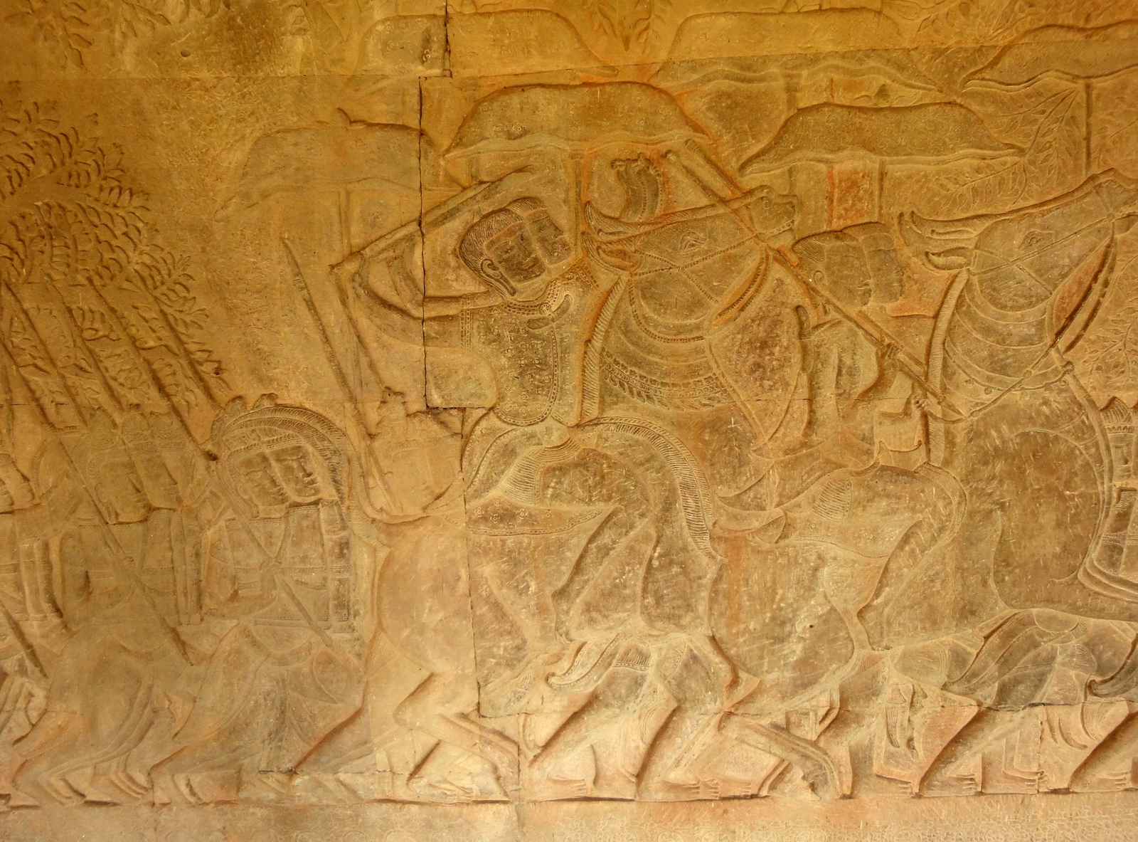 Angkor Wat Bas relief S Gallery W Wing Historic Procession 048