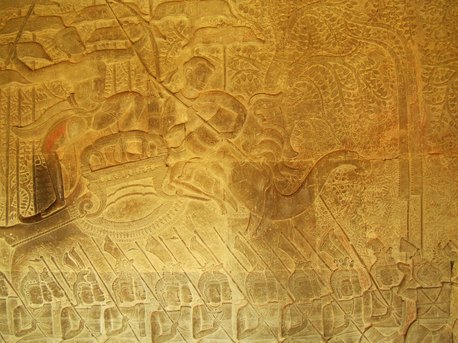 Angkor Wat Bas relief S Gallery W Wing Historic Procession 052