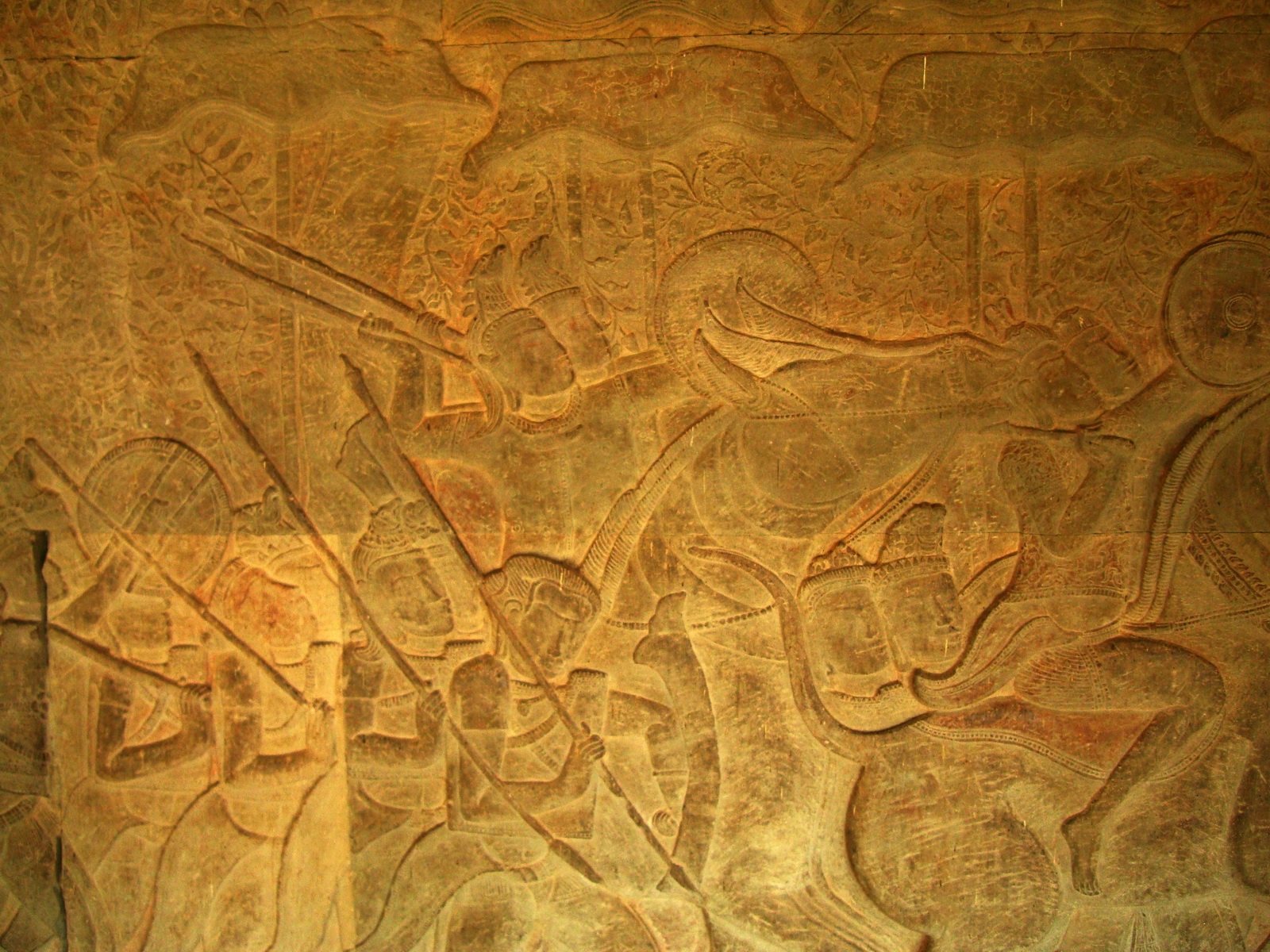 Angkor Wat Bas relief S Gallery W Wing Historic Procession 054