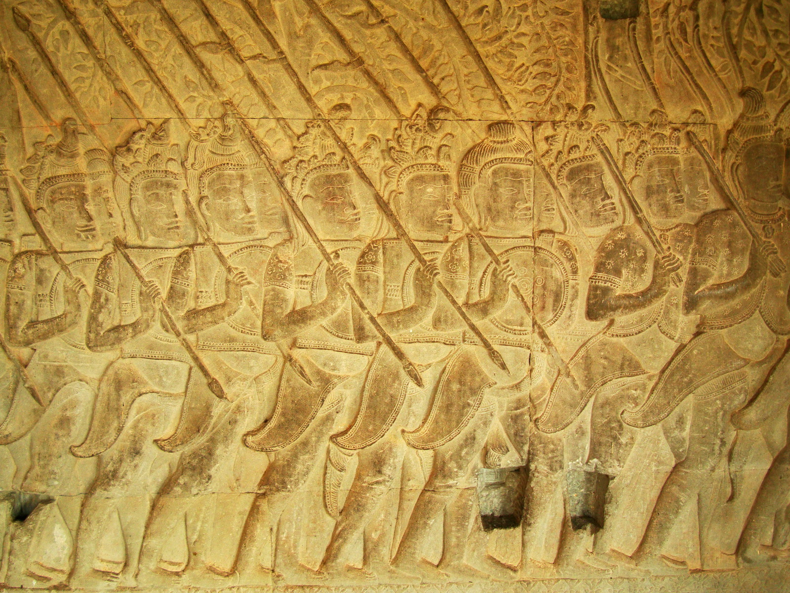 Angkor Wat Bas relief S Gallery W Wing Historic Procession 057