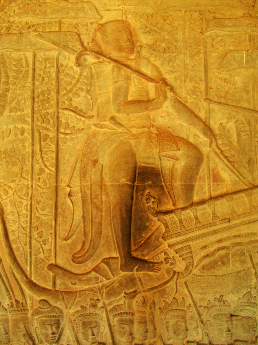 Angkor Wat Bas relief S Gallery W Wing Historic Procession 058