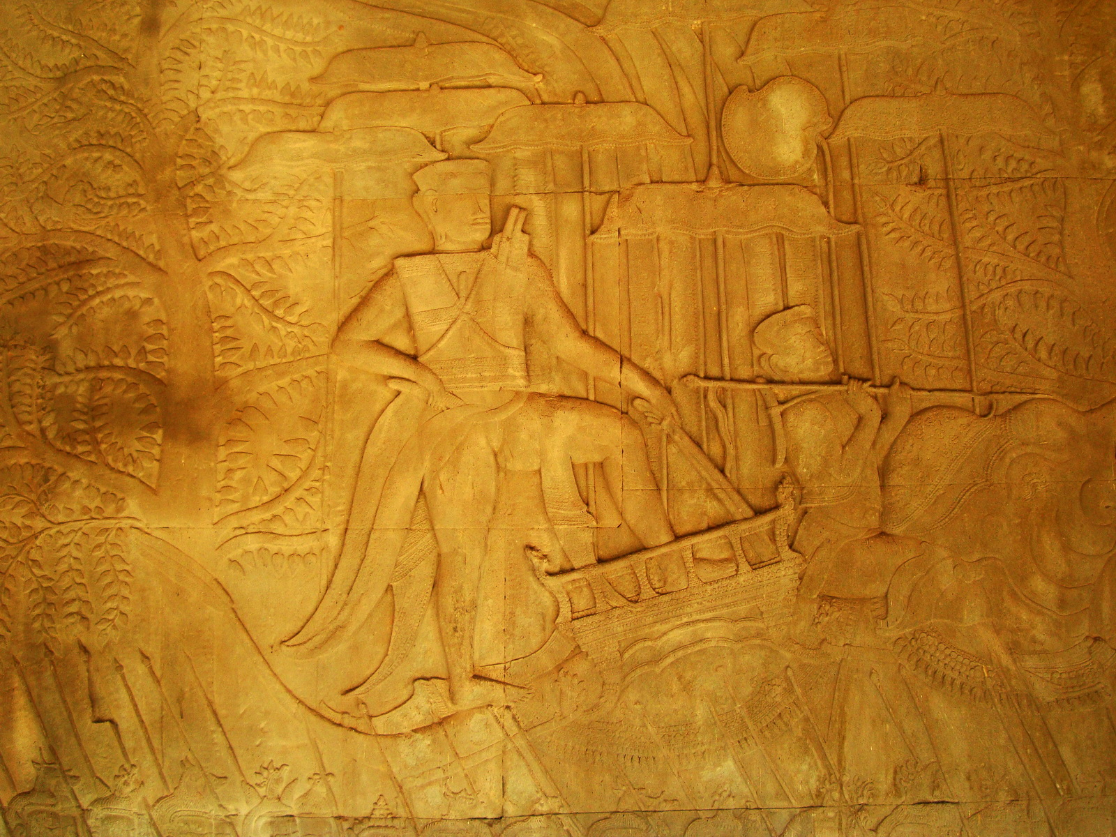 Angkor Wat Bas relief S Gallery W Wing Historic Procession 059