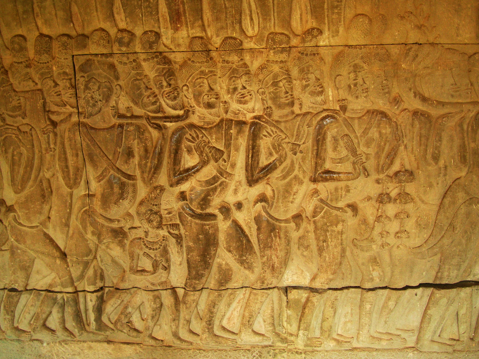 Angkor Wat Bas relief S Gallery W Wing Historic Procession 062