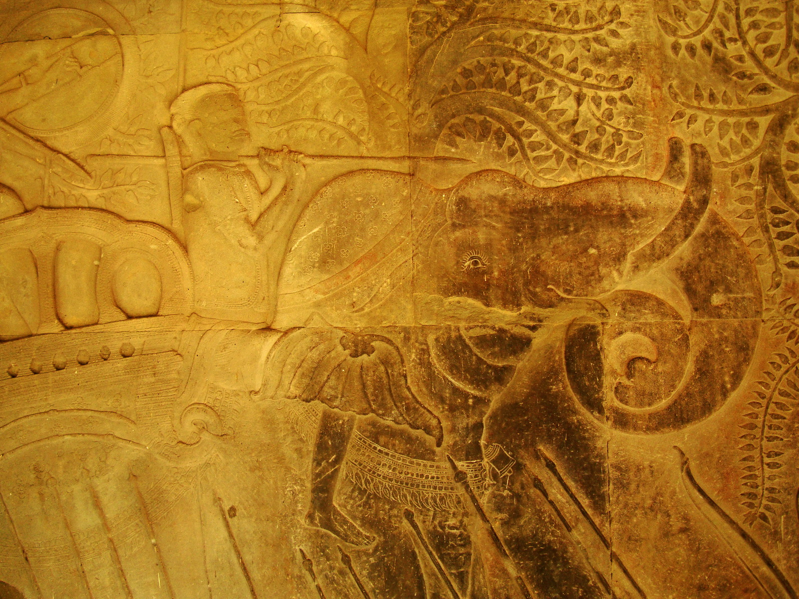Angkor Wat Bas relief S Gallery W Wing Historic Procession 064
