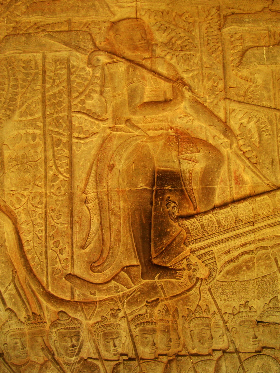 Angkor Wat Bas relief S Gallery W Wing Historic Procession 069