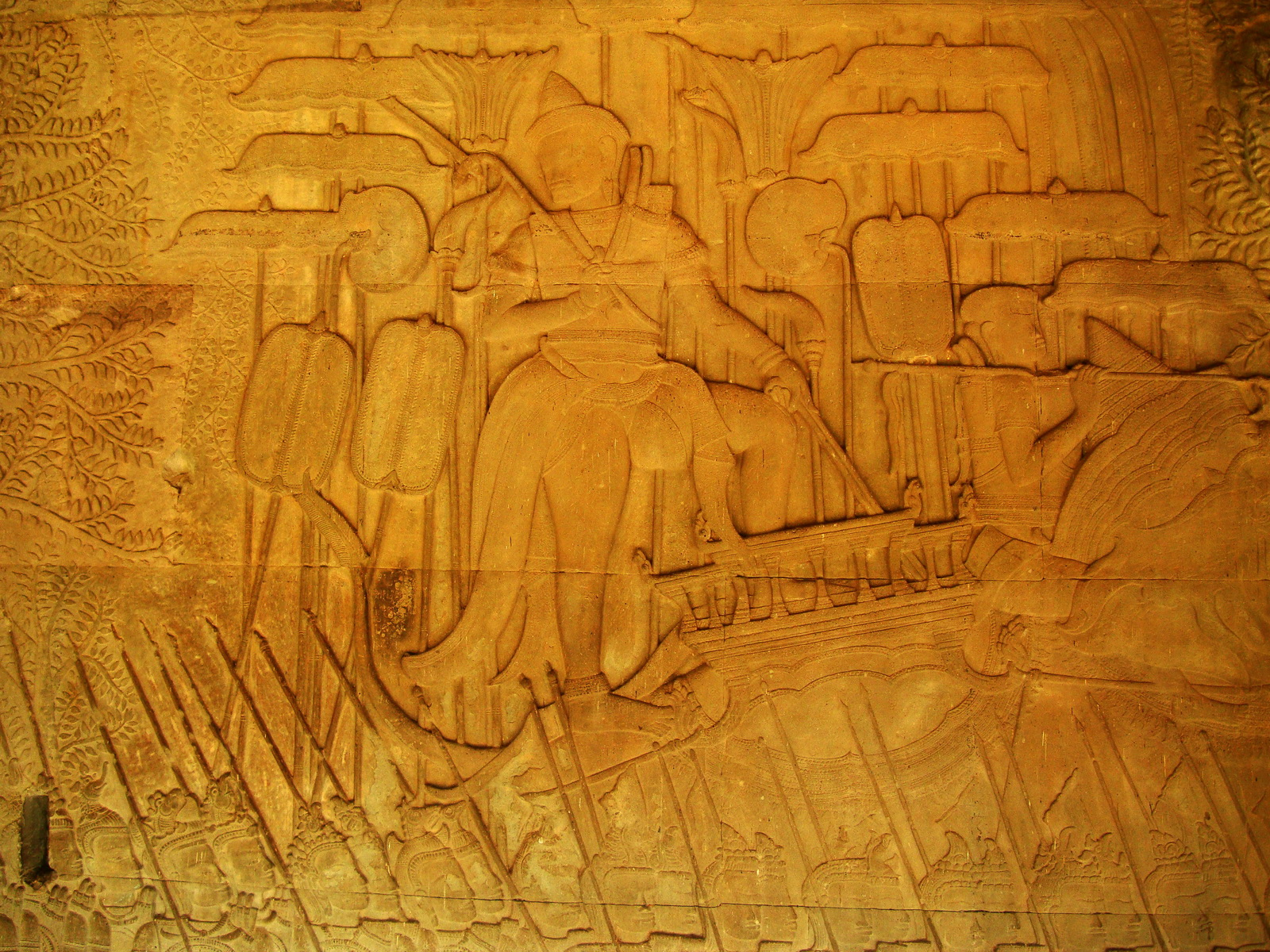 Angkor Wat Bas relief S Gallery W Wing Historic Procession 072
