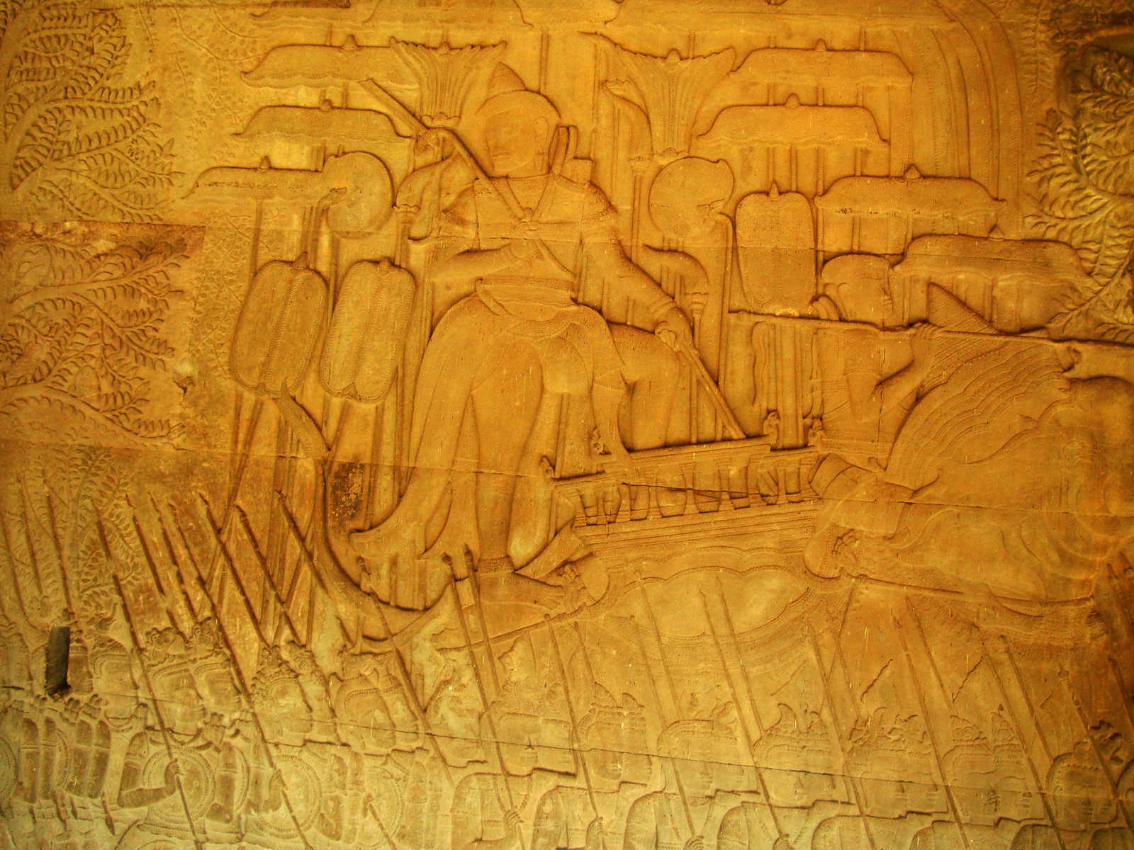 Angkor Wat Bas relief S Gallery W Wing Historic Procession 077
