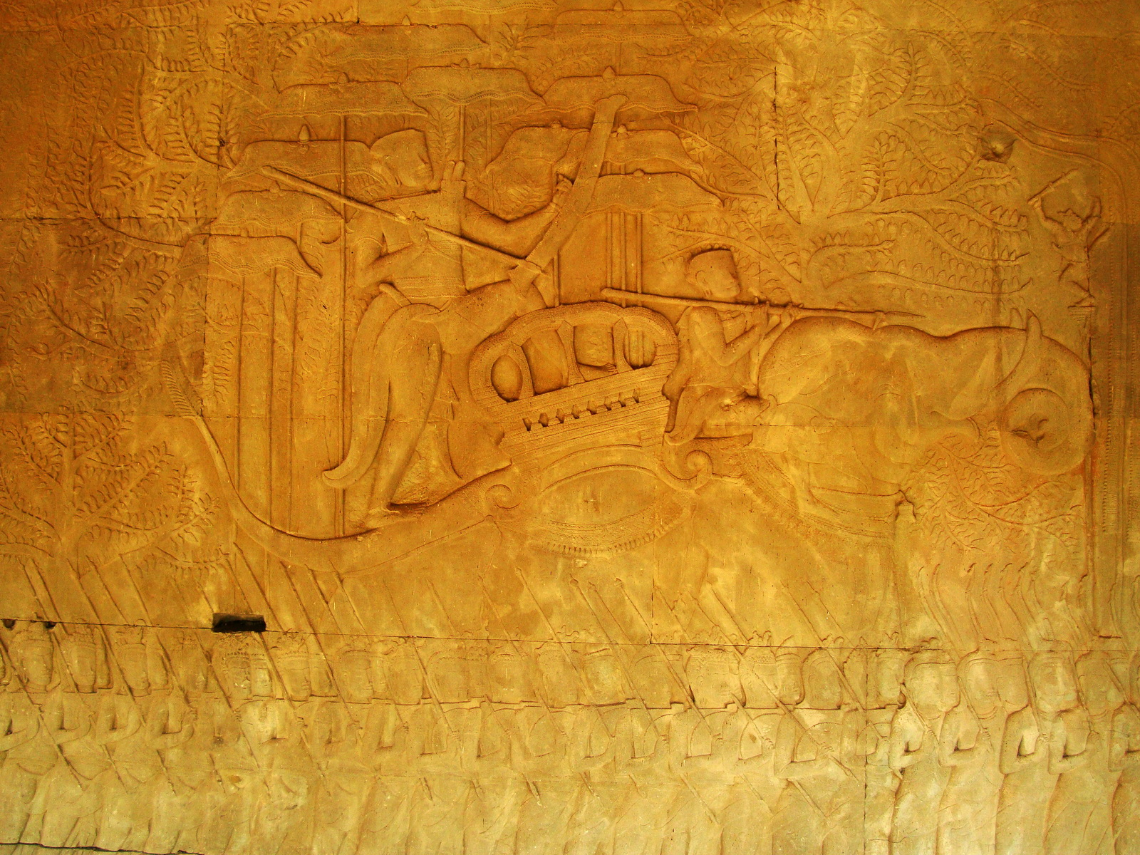Angkor Wat Bas relief S Gallery W Wing Historic Procession 079