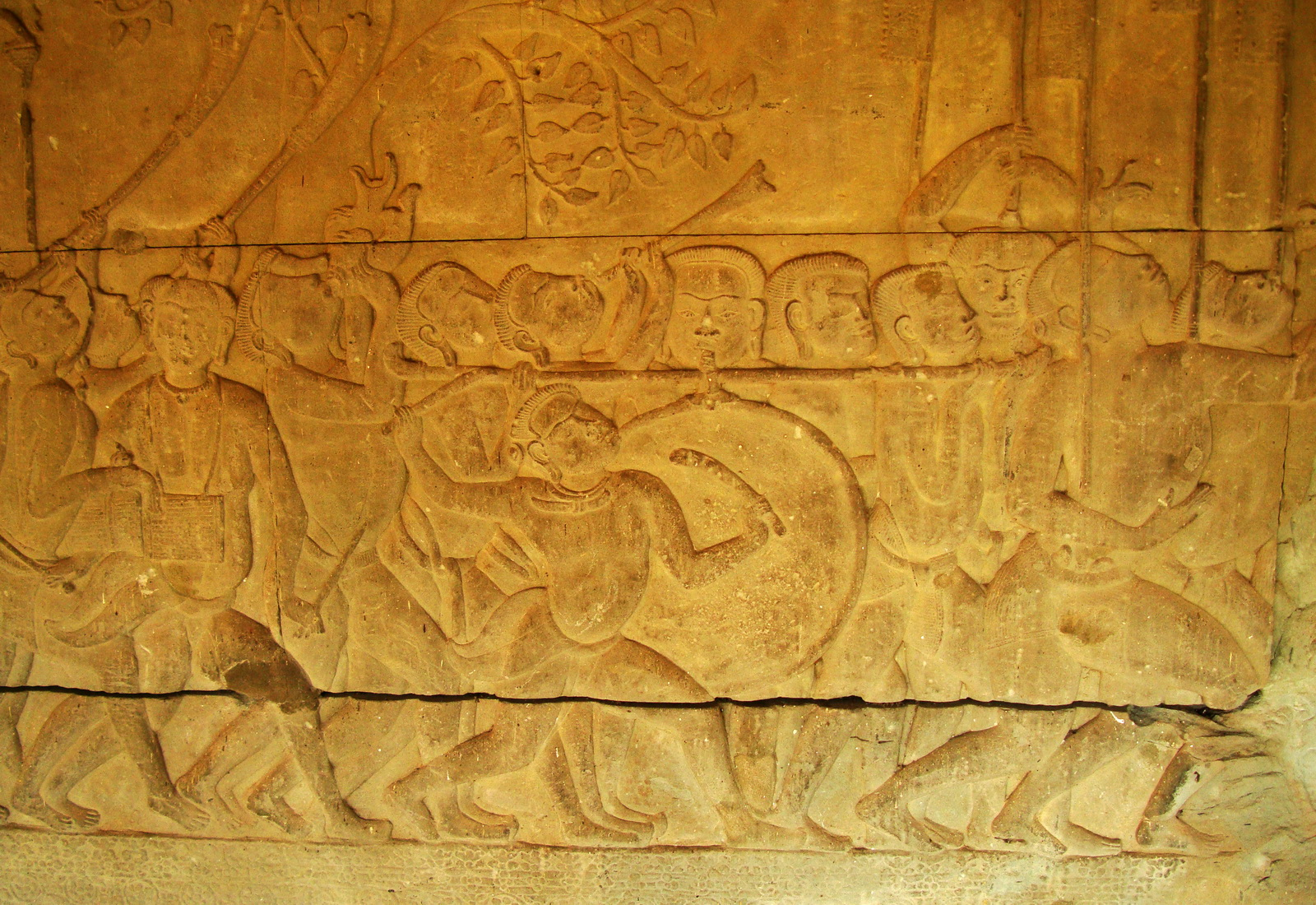 Angkor Wat Bas relief S Gallery W Wing Historic Procession 081