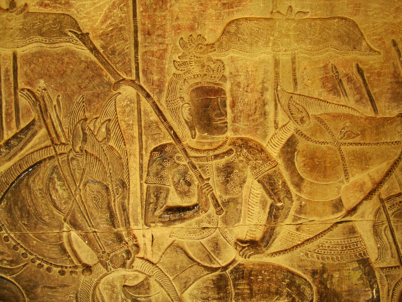 Angkor Wat Bas relief S Gallery W Wing Historic Procession 088