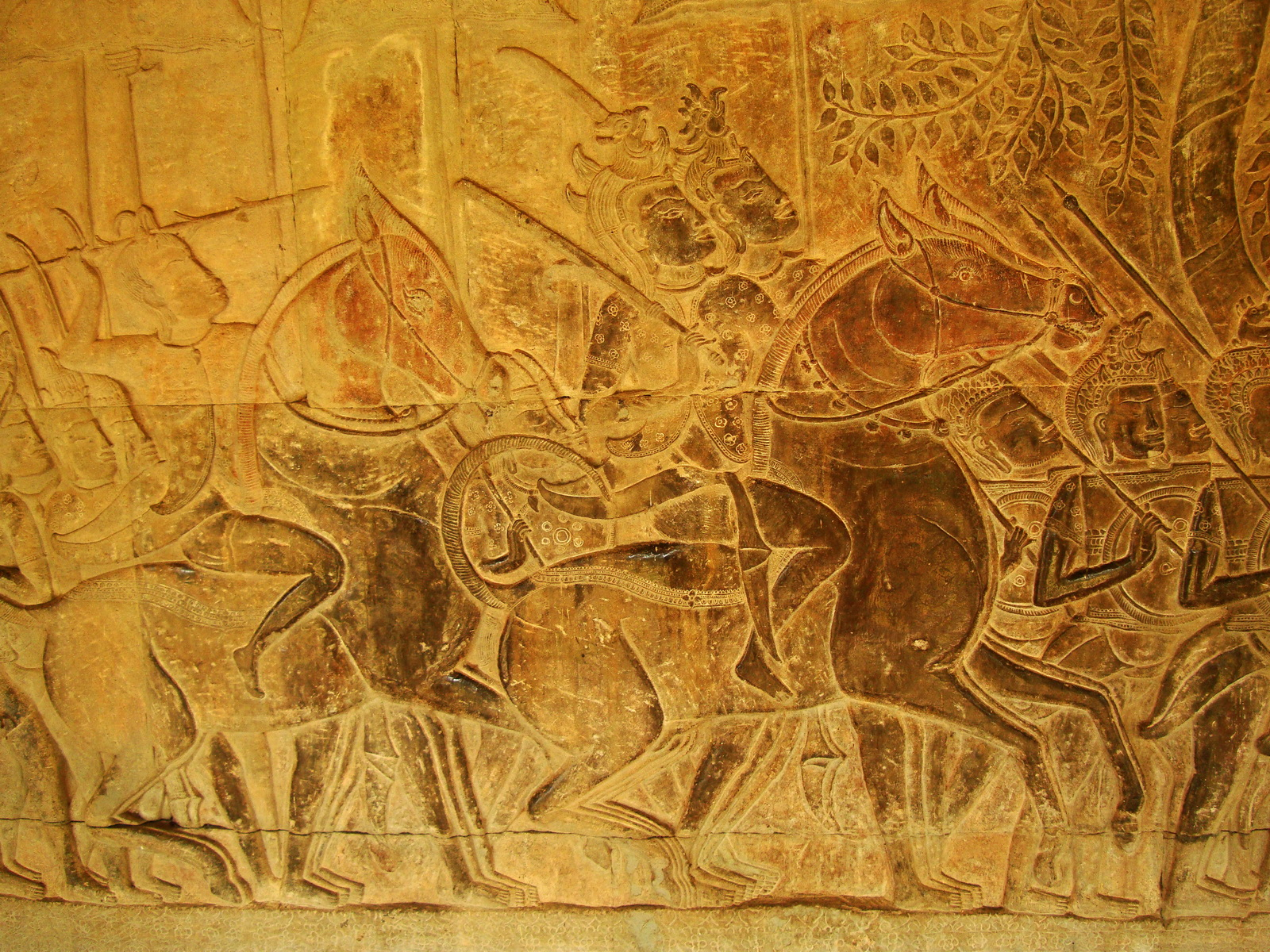 Angkor Wat Bas relief S Gallery W Wing Historic Procession 090