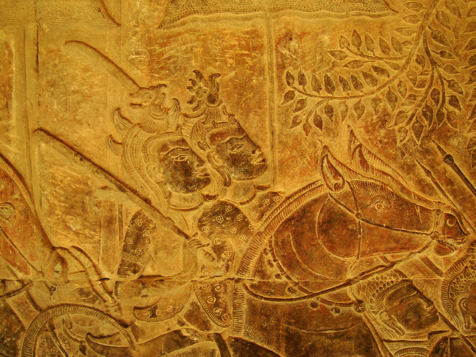 Angkor Wat Bas relief S Gallery W Wing Historic Procession 094