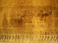 Asisbiz Angkor Wat Bas relief S Gallery W Wing Historic Procession 101