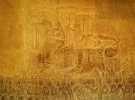 Asisbiz Angkor Wat Bas relief S Gallery W Wing Historic Procession 106