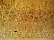 Asisbiz Angkor Wat Bas relief S Gallery W Wing Historic Procession 112