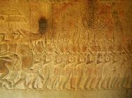 Asisbiz Angkor Wat Bas relief S Gallery W Wing Historic Procession 115