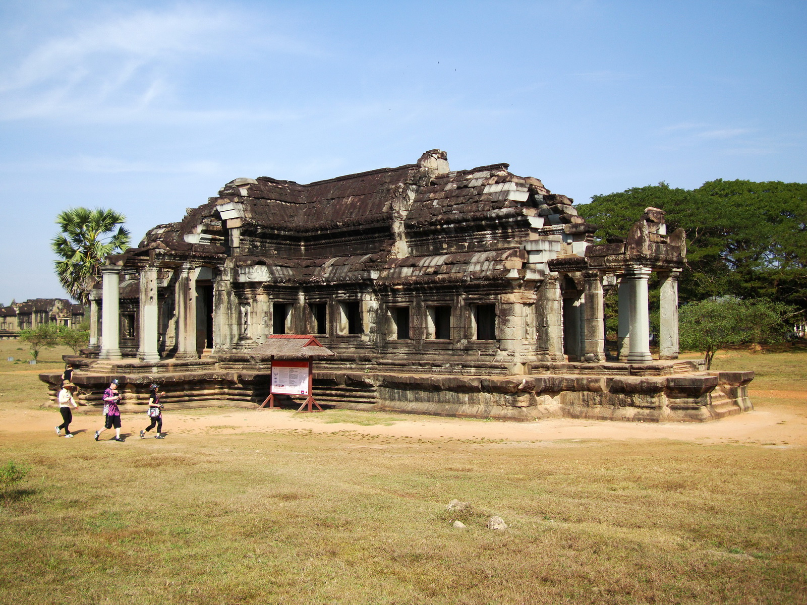 Angkor Wat Khmer architecture external library NW corner 02
