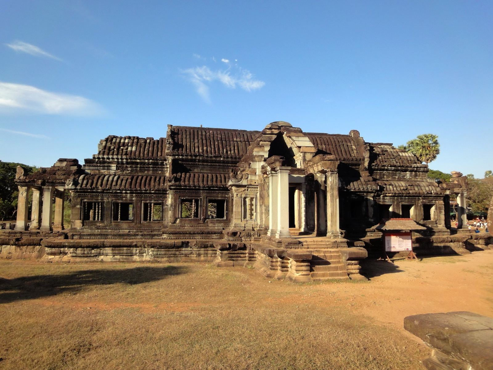 Angkor Wat Khmer architecture external library SW corner 01