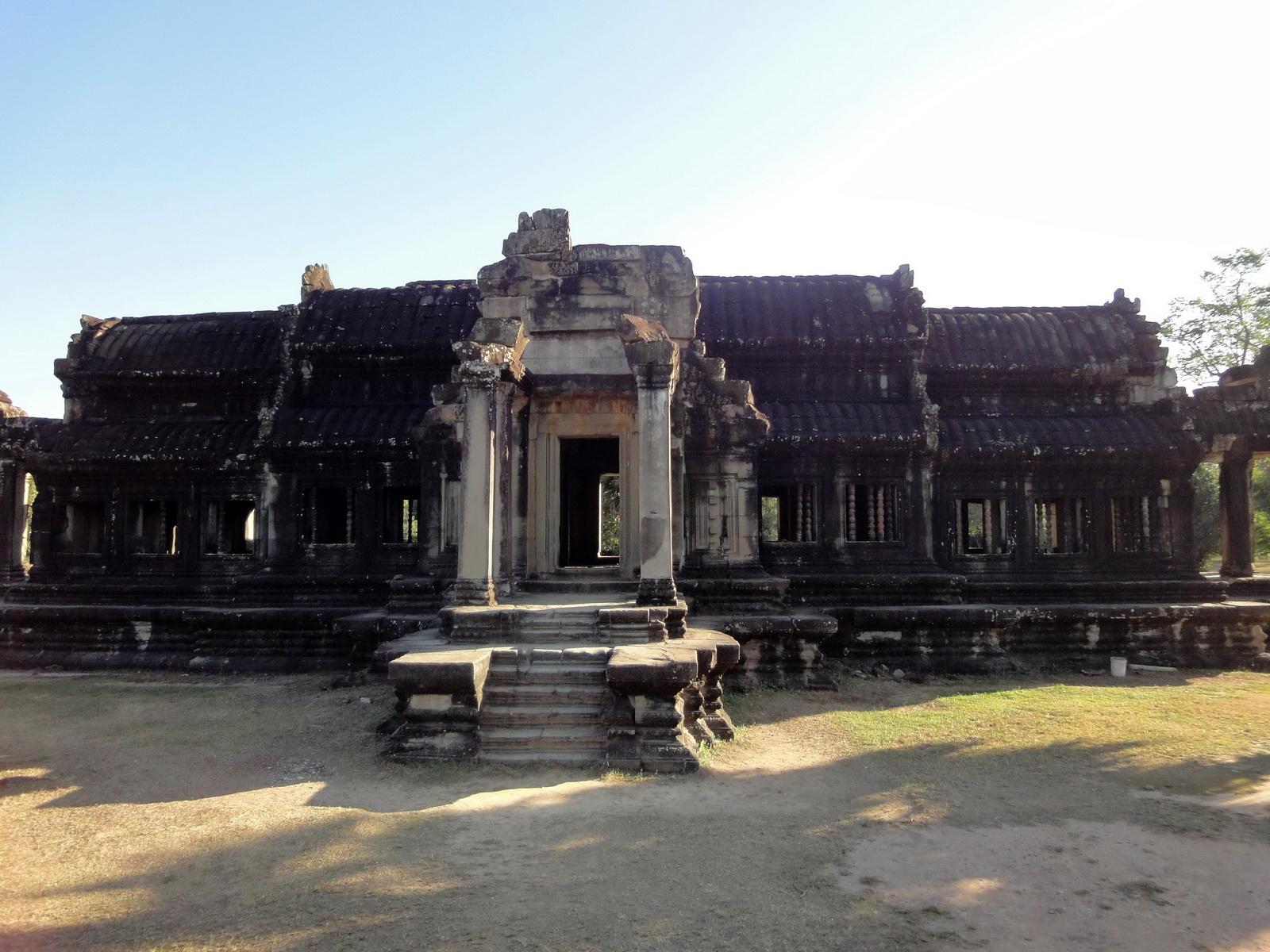 Angkor Wat Khmer architecture external library SW corner 05