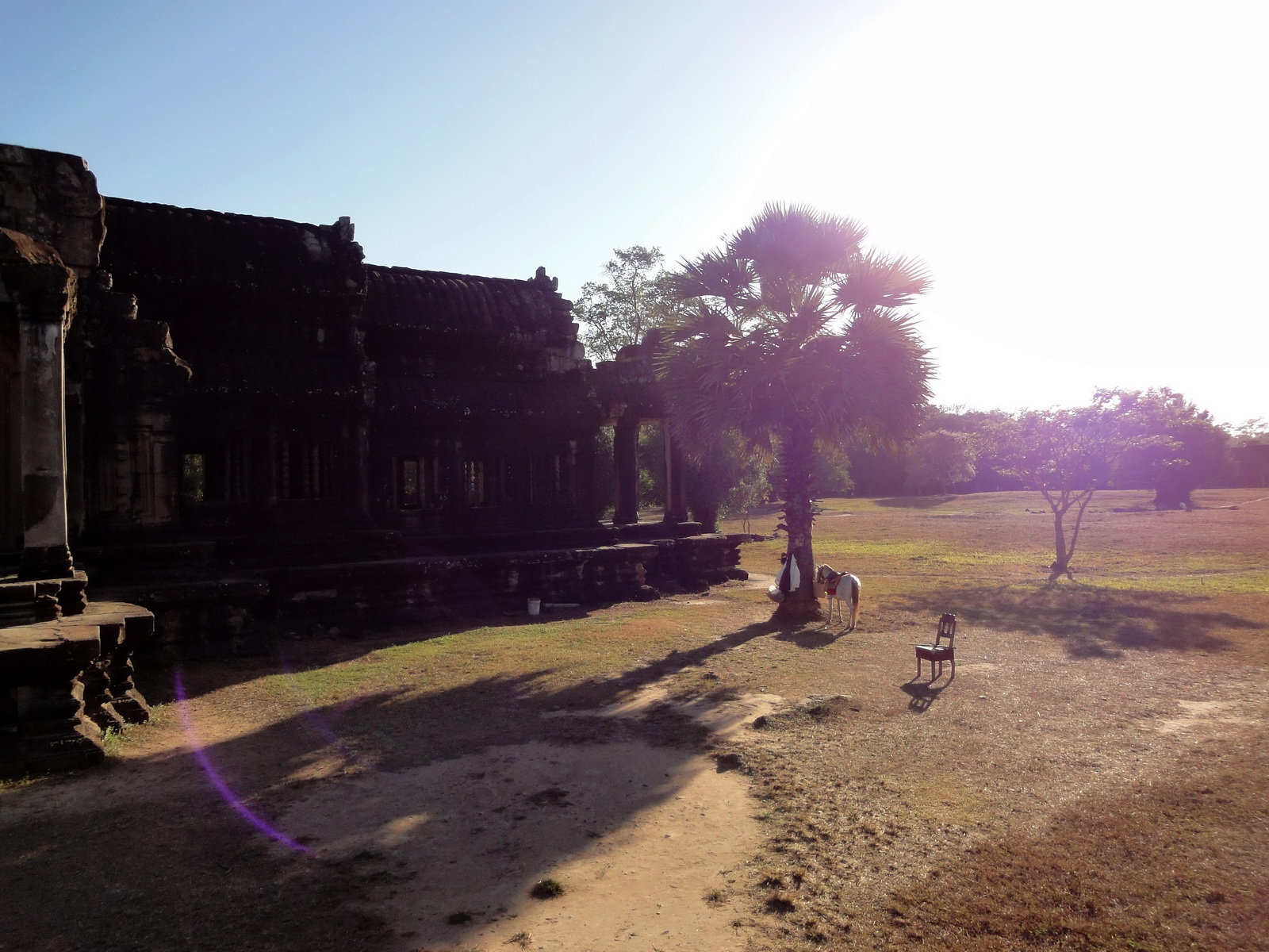 Angkor Wat Khmer architecture external library SW corner 06
