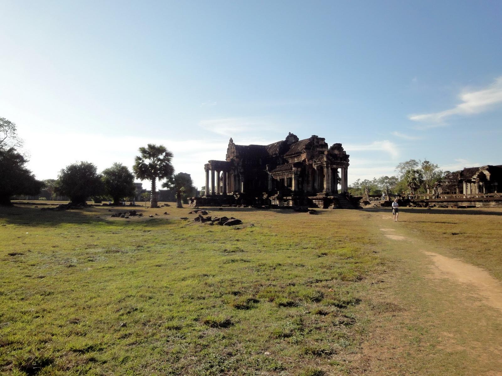 Angkor Wat Khmer architecture external library SW corner 11