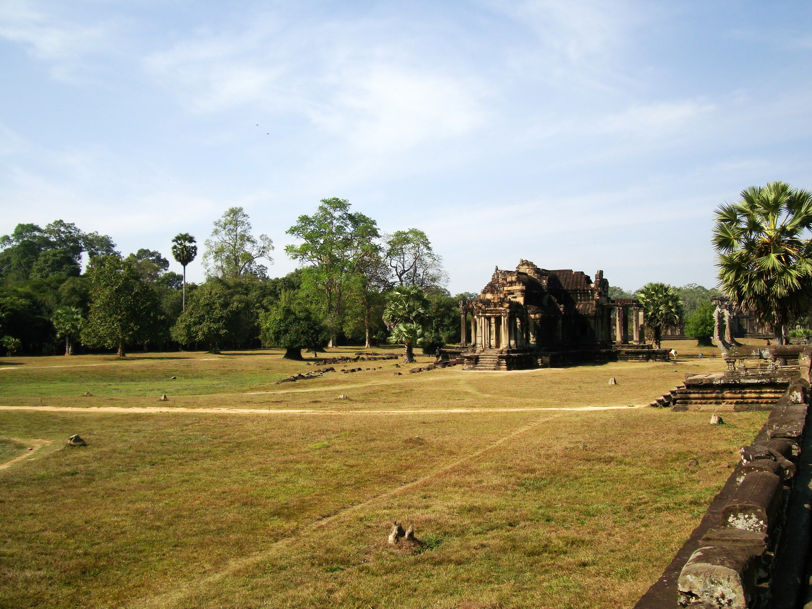 Angkor Wat Khmer architecture external library SW corner 12