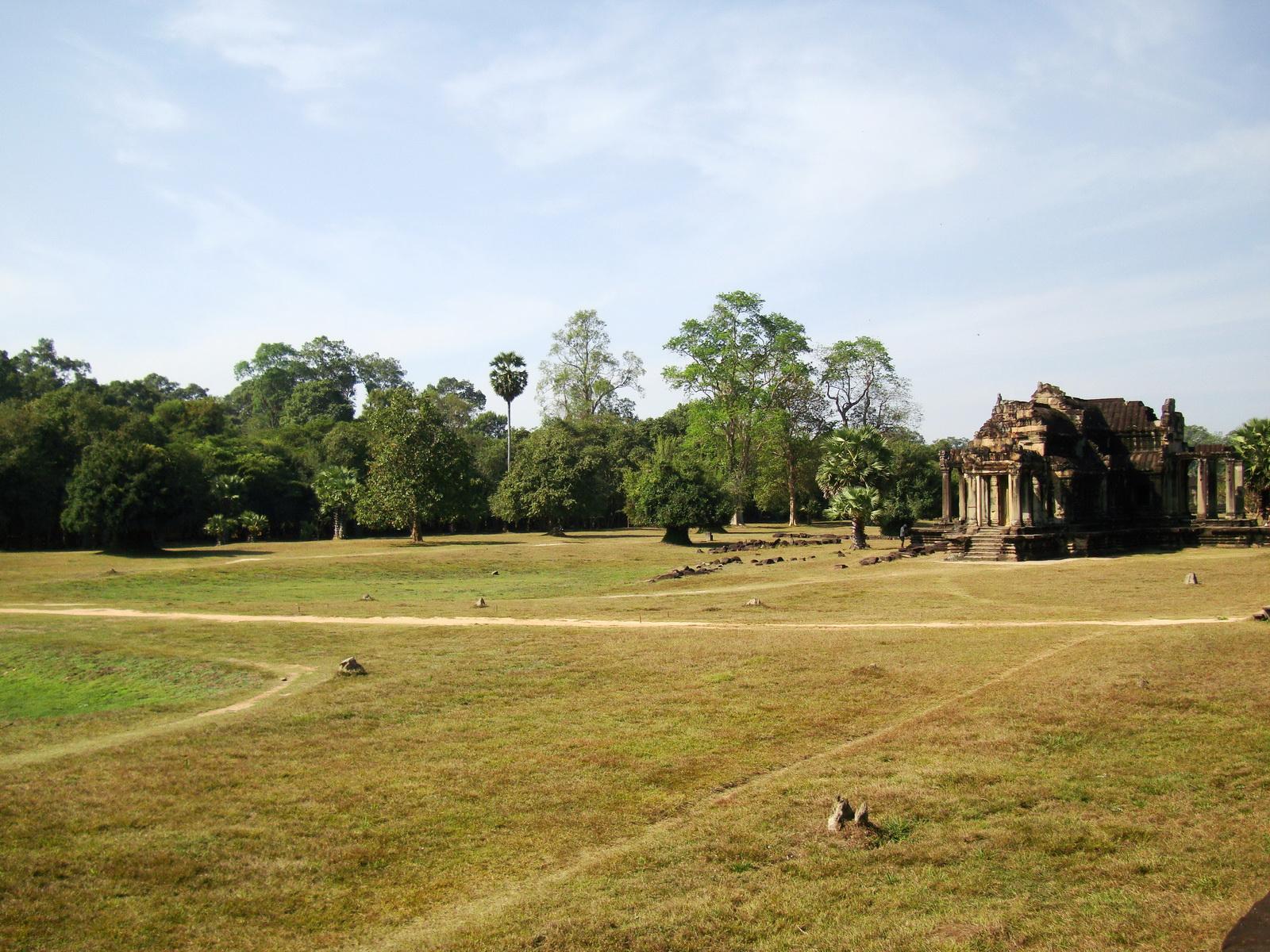 Angkor Wat Khmer architecture external library SW corner 13