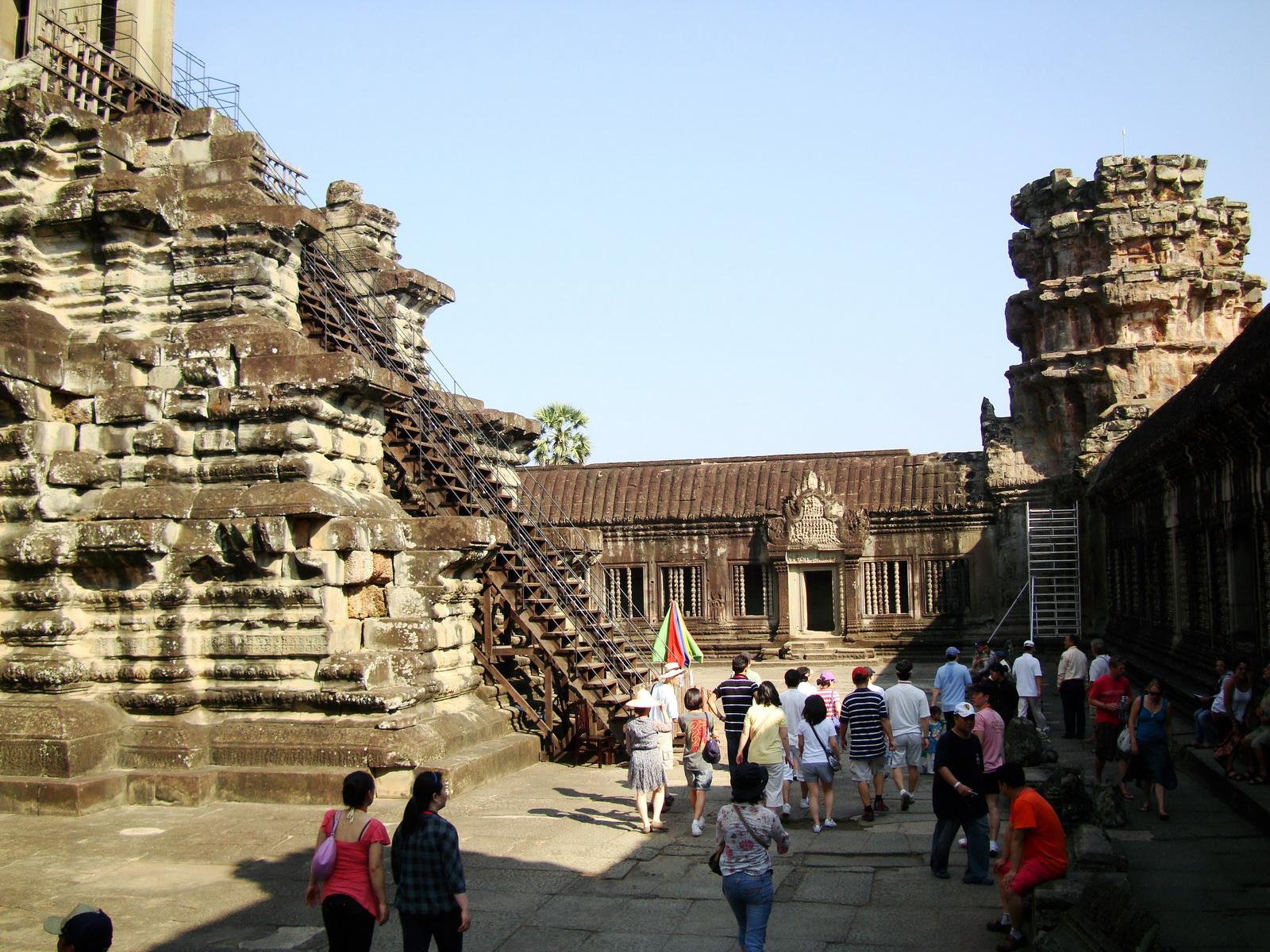 Angkor Wat Khmer architecture inner sanctuary E entrance 10