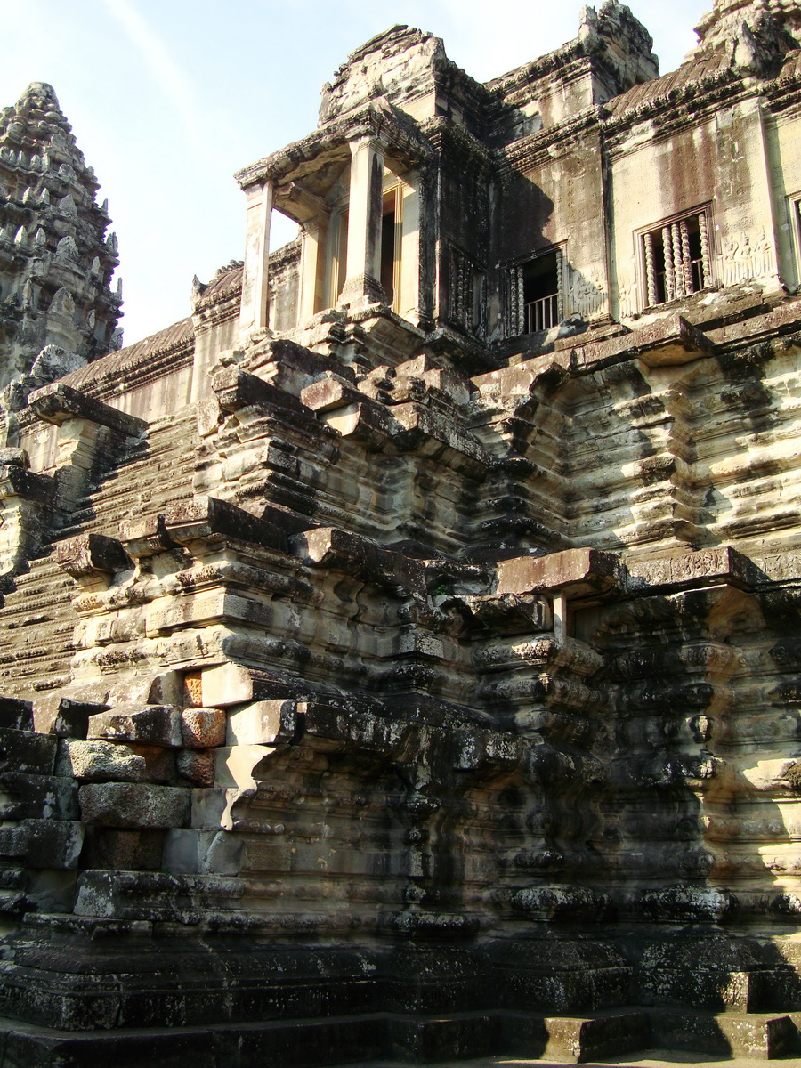 Angkor Wat Khmer architecture inner sanctuary E entrance 11