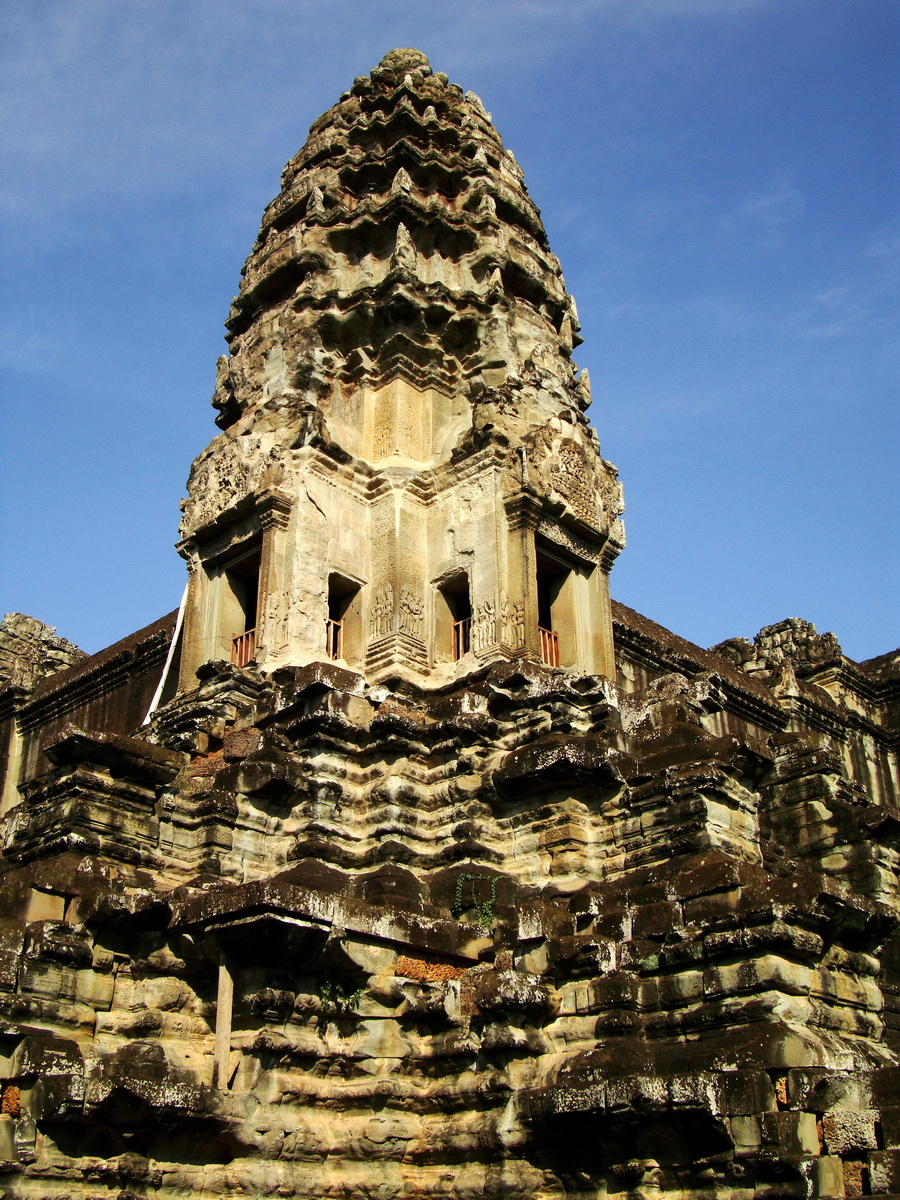 Angkor Wat Khmer architecture inner sanctuary towers 01