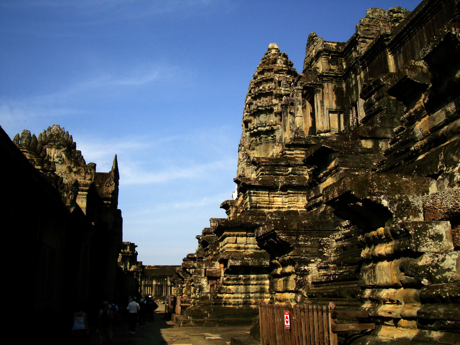 Angkor Wat Khmer architecture inner sanctuary towers 02