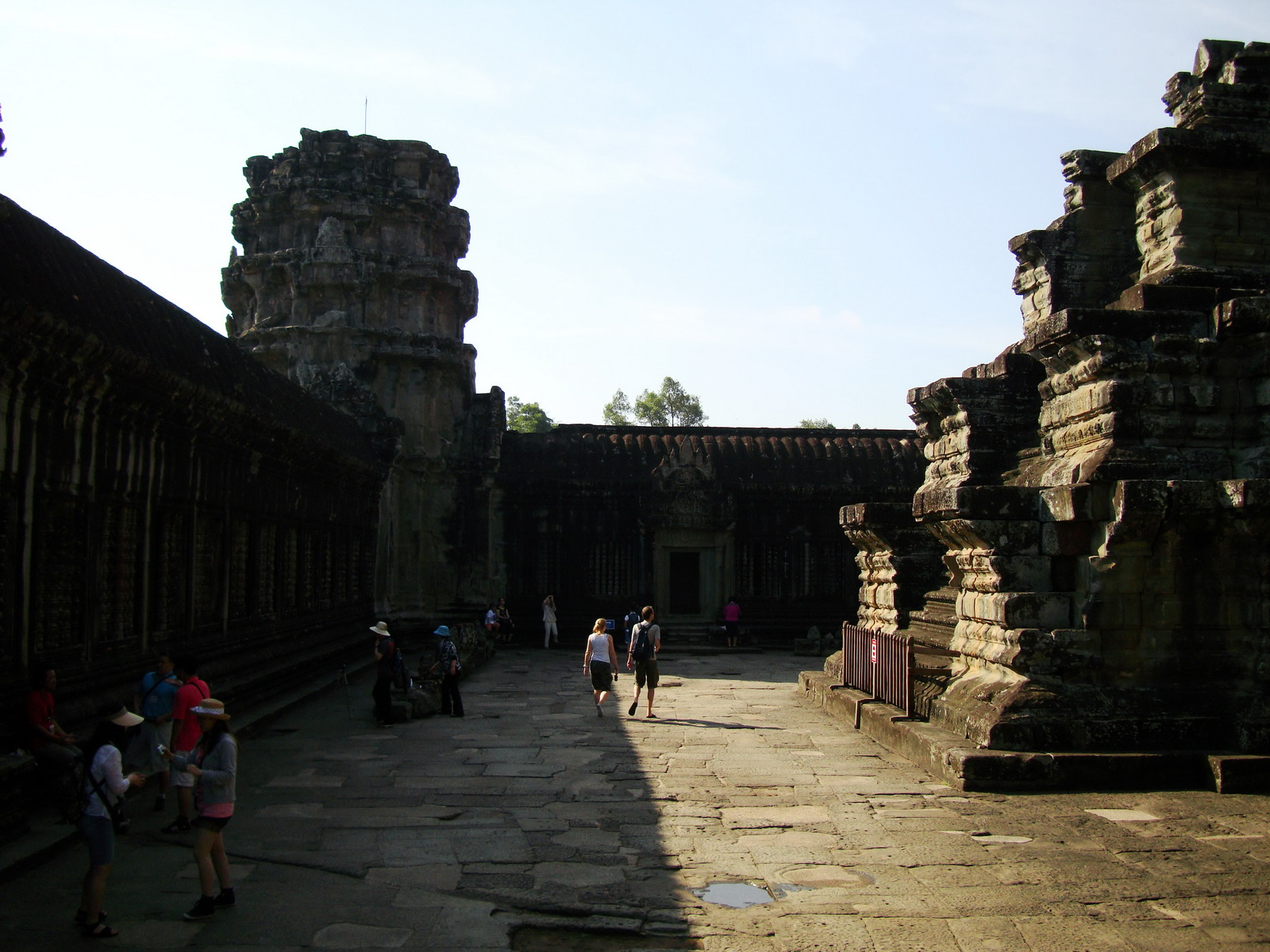 Angkor Wat Khmer architecture inner sanctuary towers 03