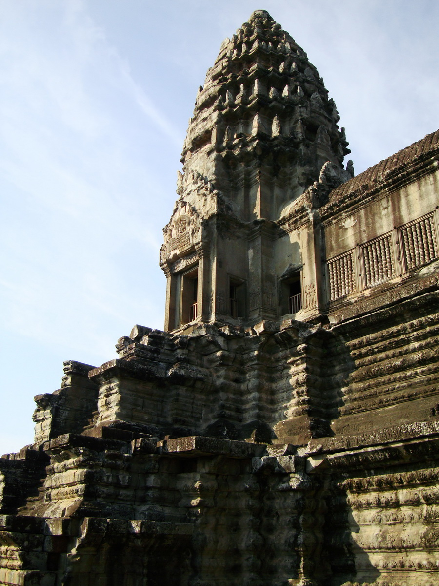 Angkor Wat Khmer architecture inner sanctuary towers 04