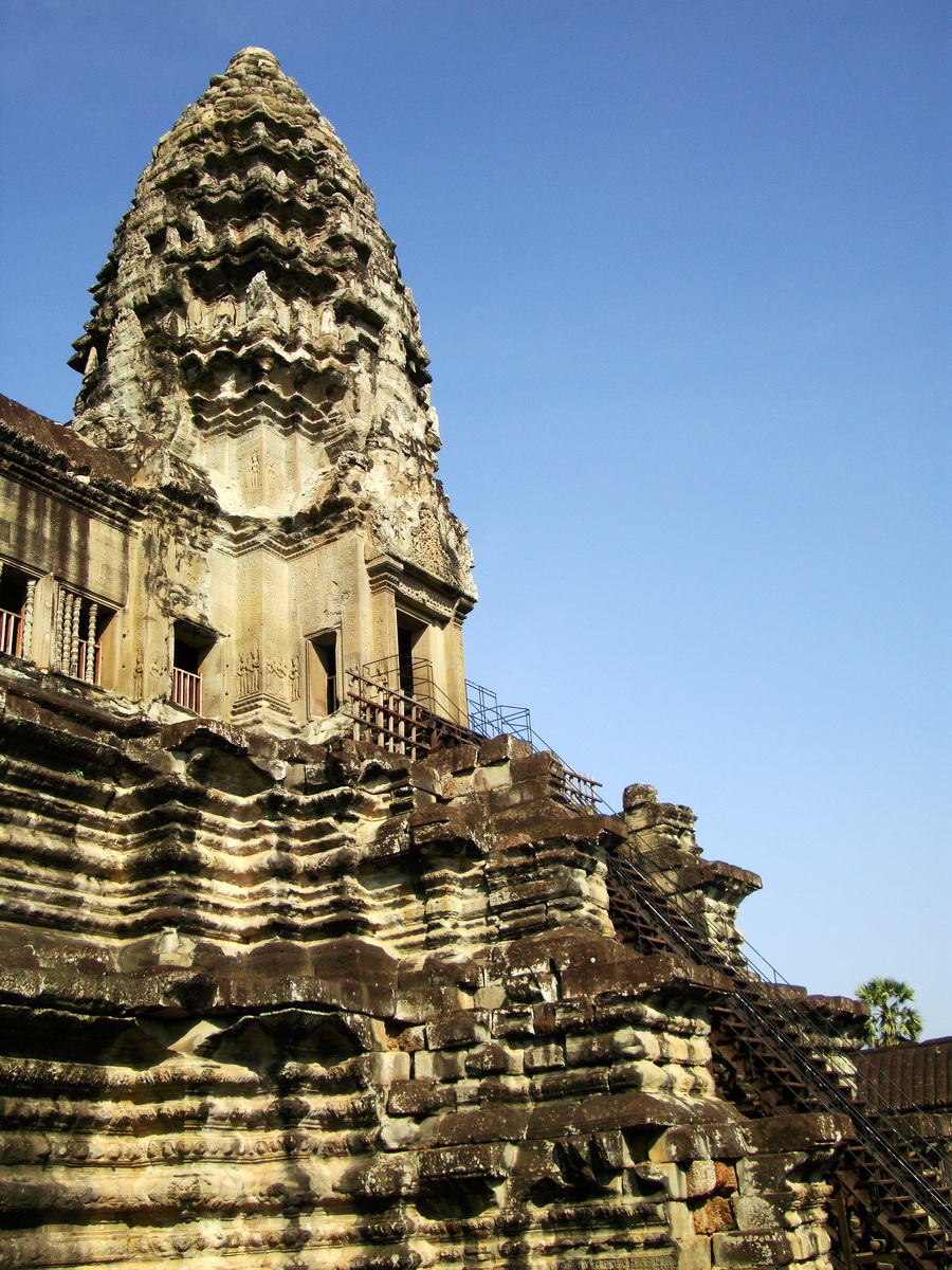 Angkor Wat Khmer architecture inner sanctuary towers 05