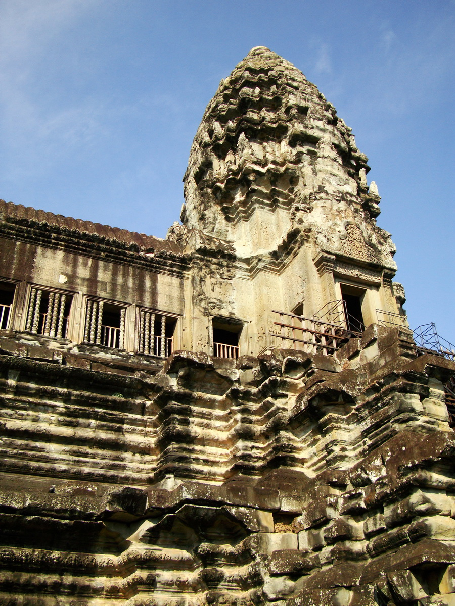 Angkor Wat Khmer architecture inner sanctuary towers 06