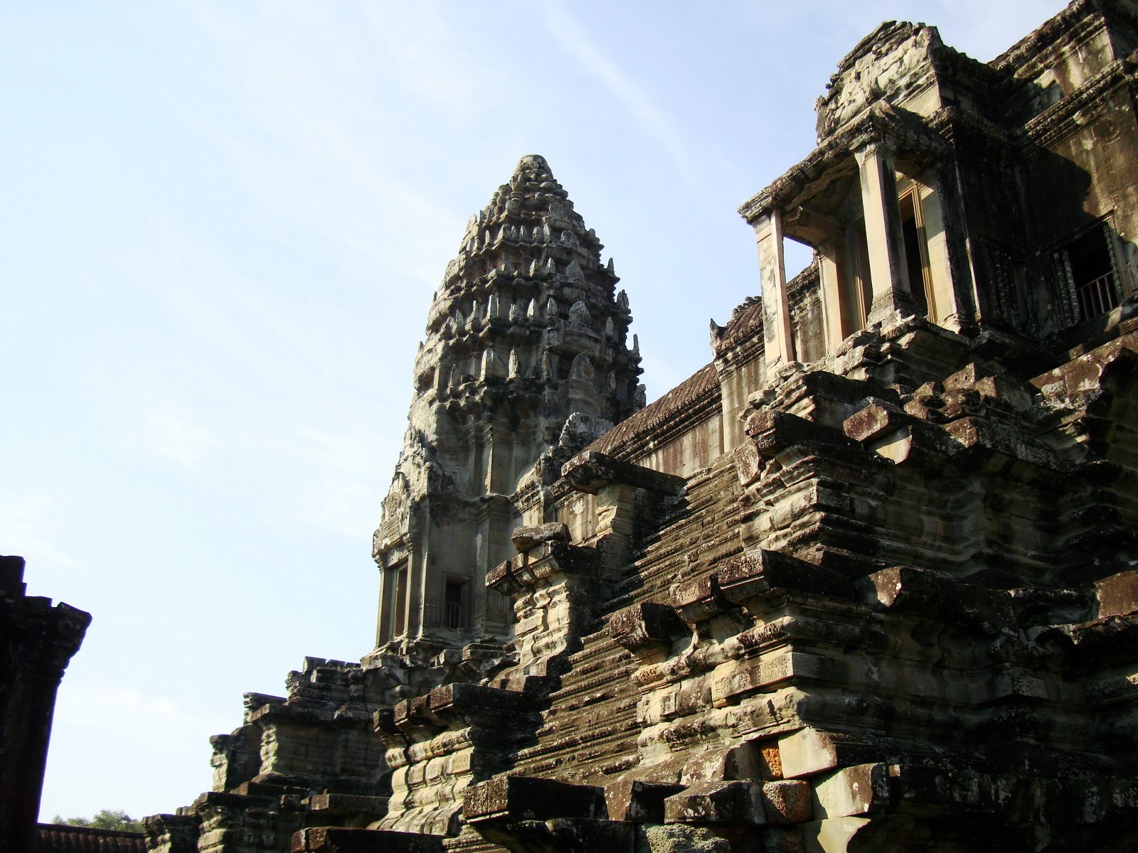 Angkor Wat Khmer architecture inner sanctuary towers 07