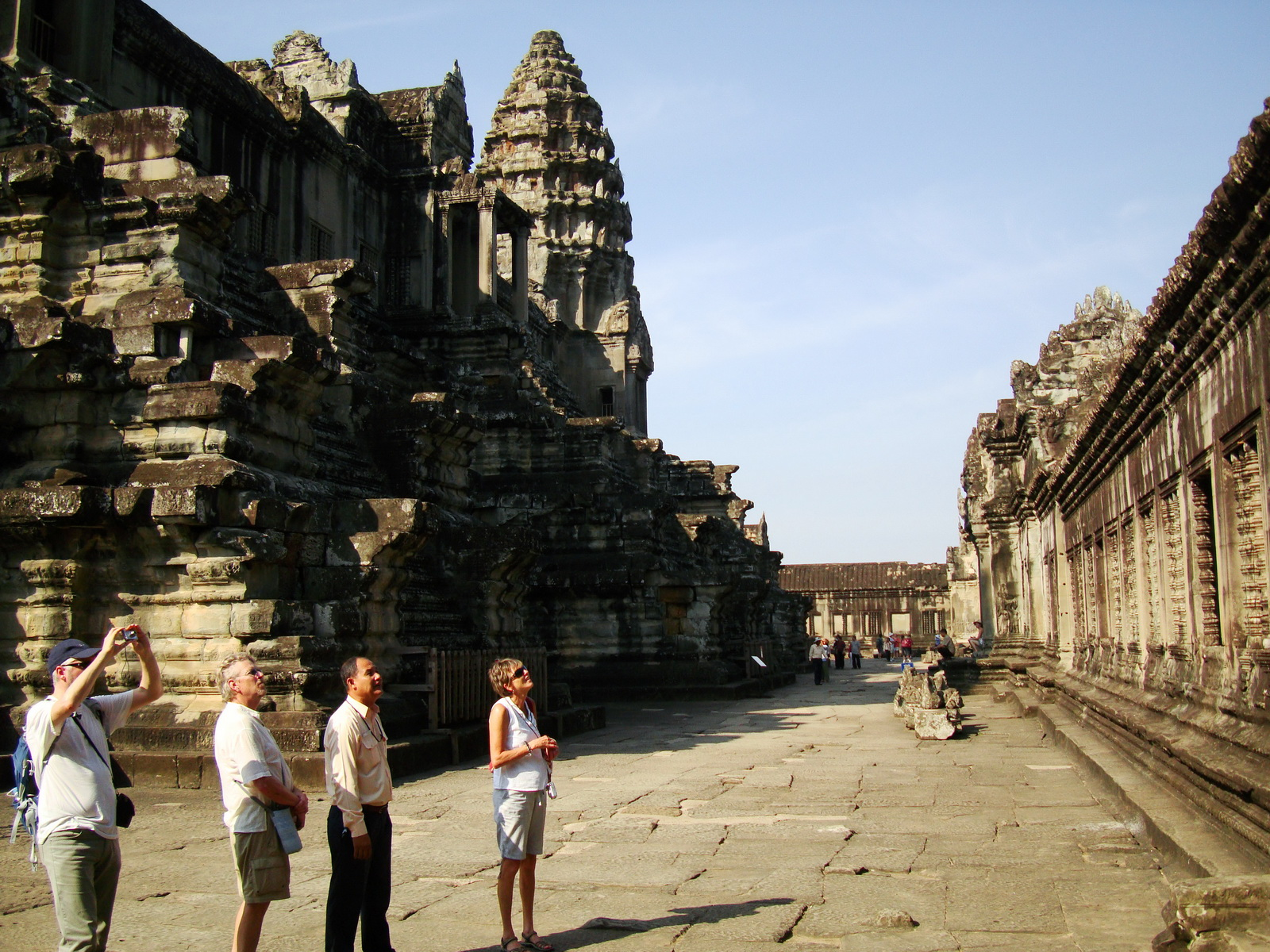 Angkor Wat Khmer architecture inner sanctuary towers 10