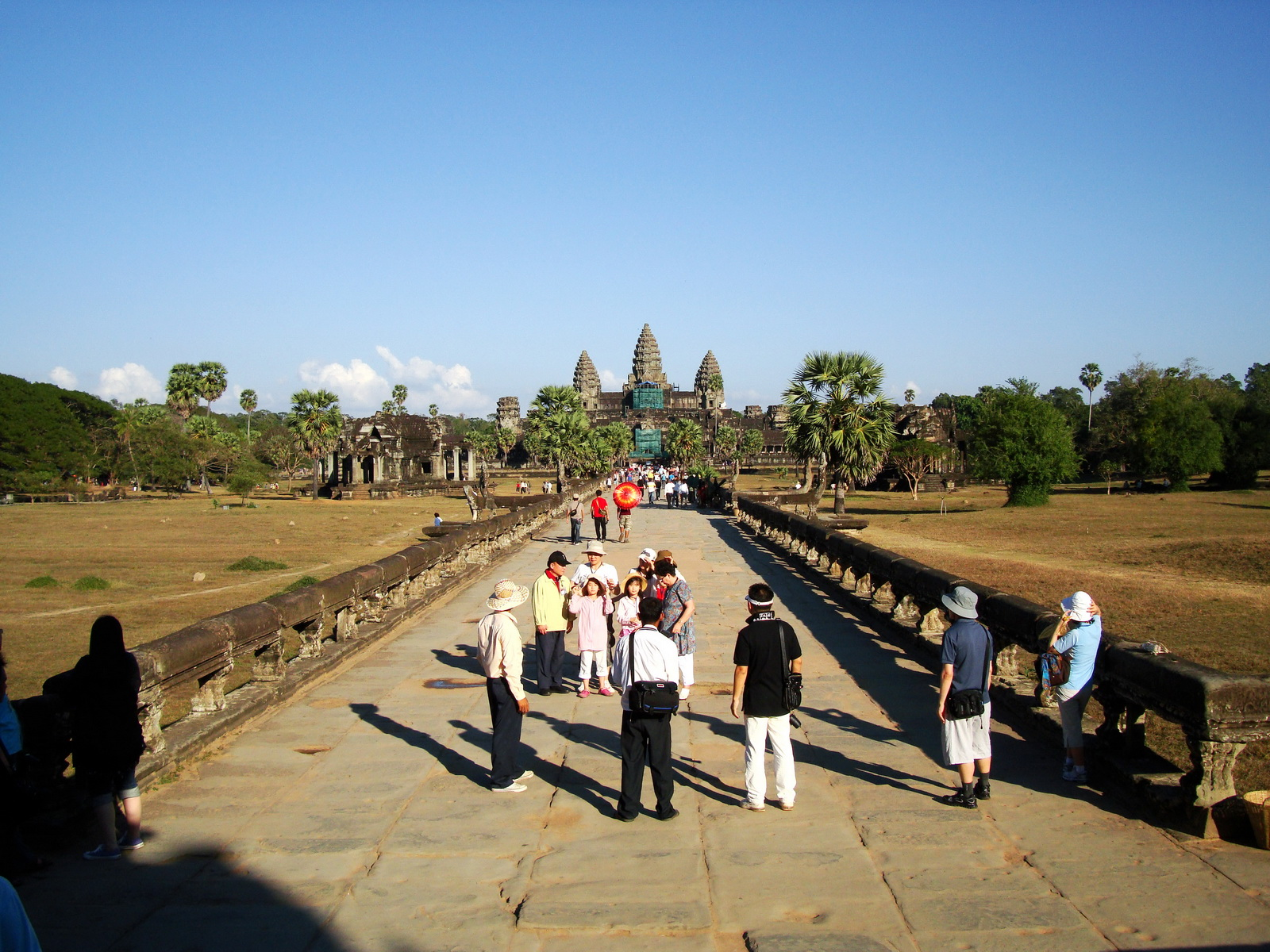 Angkor Wat approaches western moat bridge Angkor Siem Reap 01