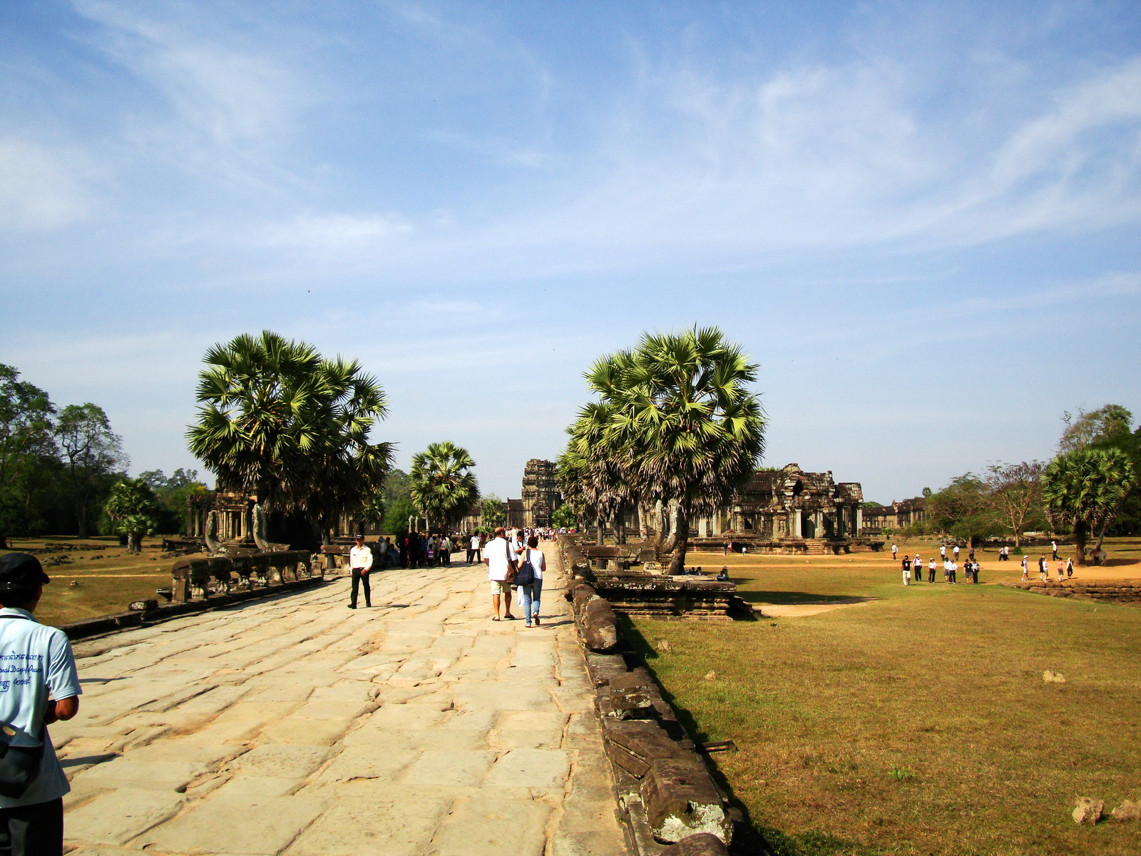 Angkor Wat looking down towards the Western Gopura 01