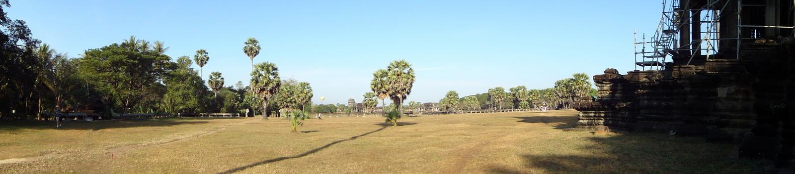 Angkor Wat panoramic view S side looking west Angkor Siem Reap 01